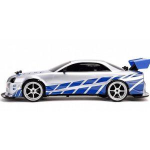 ג'אדה מהיר ועצבני מודל 116 מכונית שלט הניסאן הכחולה של בריאן כולל כפתור טורבו
