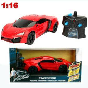 מכוניתג'אדה לוקאן הייפרספיד אדומה מכונית שלט כולל כפתור טורבו! מודל 116